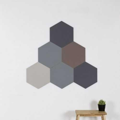 Hatszög alakú panelek felszerelve