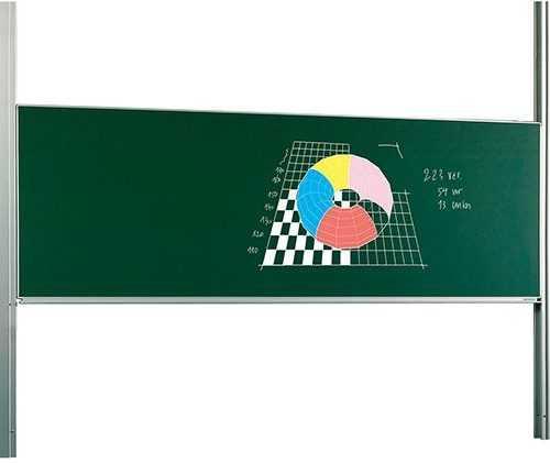 Egyfelületű ,nagyméretű mágnestábla, whiteboard, tartó oszloppal
