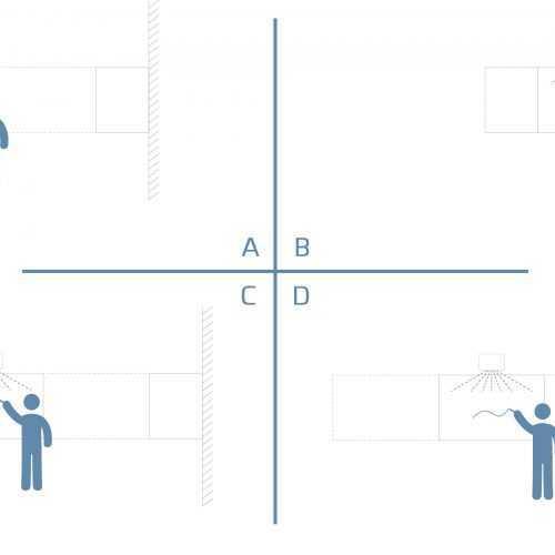 Modularis projektortabla es magnestabla egyben merettablazat