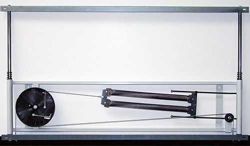 Kihajtható mágnestábla csúzó mechanizmussal fehér és zöld színben