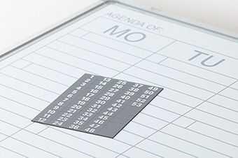 Mágneses számok heti tervezőtáblához