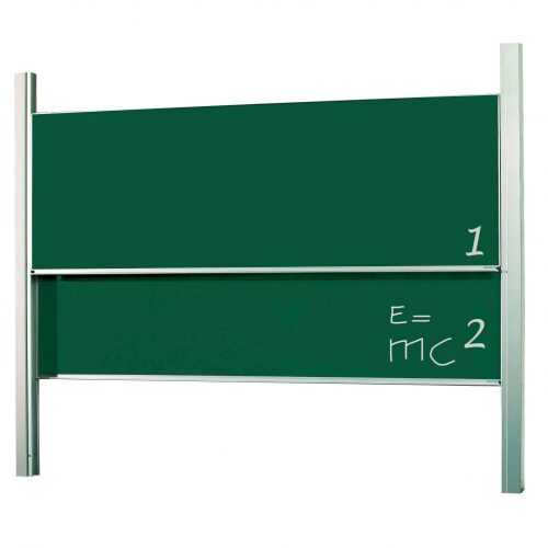Csúsztatható mágnestábla - tantermi tábla - zöld