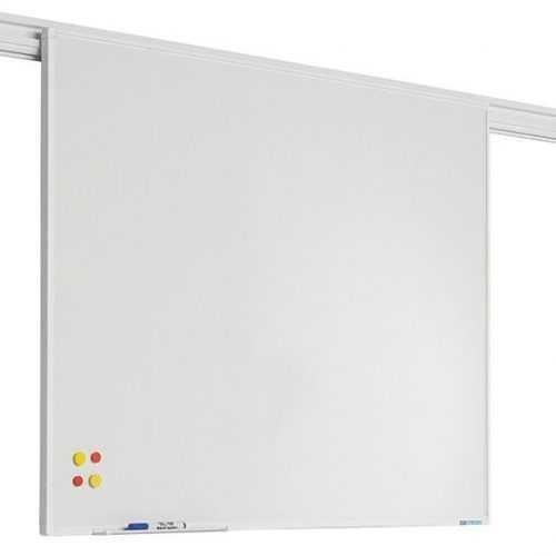 Sínrendszeren mozgatható mágnestábla whiteboard